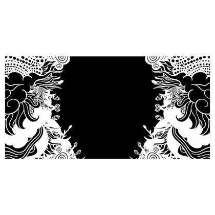 Floral Black Curtains