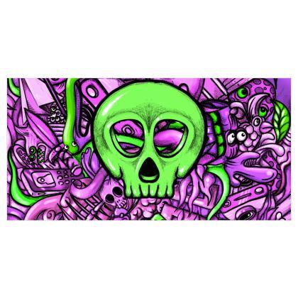 Green Skull Curtains