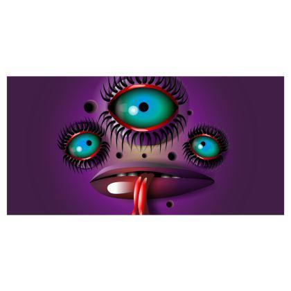 Purple Monster Curtains
