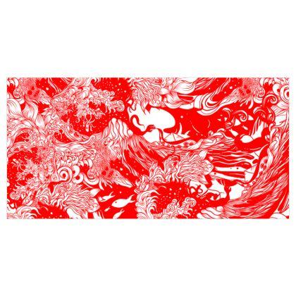 Red Ocean Curtains