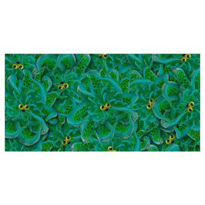 Cute Green Octopus Curtains