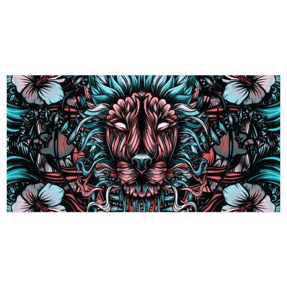 Floral Lion Curtains