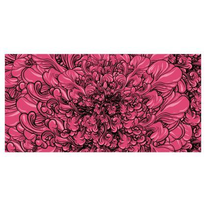 Pink Flower Curtains