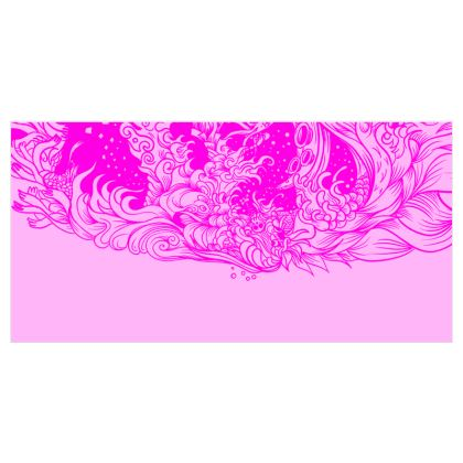 Pink Wave Curtains