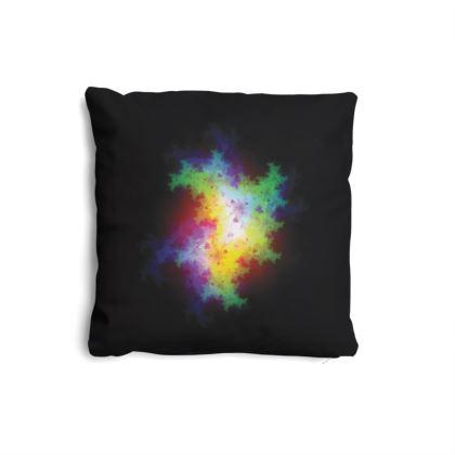 Bold Neon Fractal Pillow Set