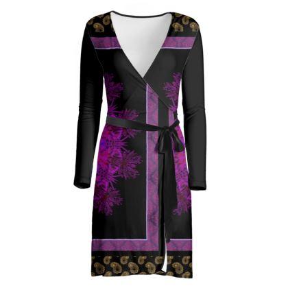 Scarf Print Paisley Dress