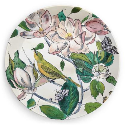 Designer Picnic Plate Magnolia