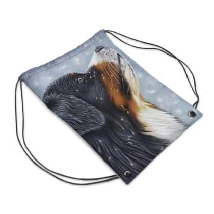 Bernese Mountain Dog Drawstring PE Bag - Blissful Blue