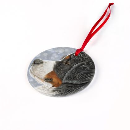 Bernese Mountain Dog Christmas Ornament - Let It Snow