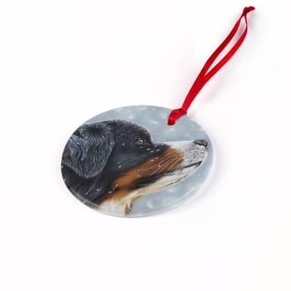 Bernese Mountain Dog Christmas Ornaments - Blissful Blue
