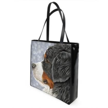 Bernese Mountain Dog Shopper Bag - Let It Snow