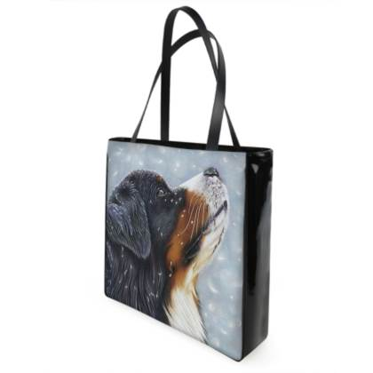 Bernese Mountain Dog Shopping Bag - Blissful Blue
