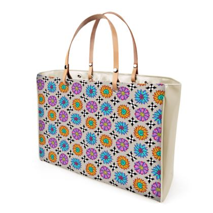 Victoriana - Large Handbag beige