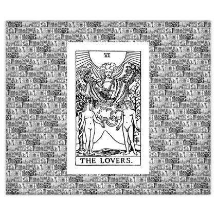 Rider Waite Tarot Major Arcana The Lovers and The Devil Duvet Set