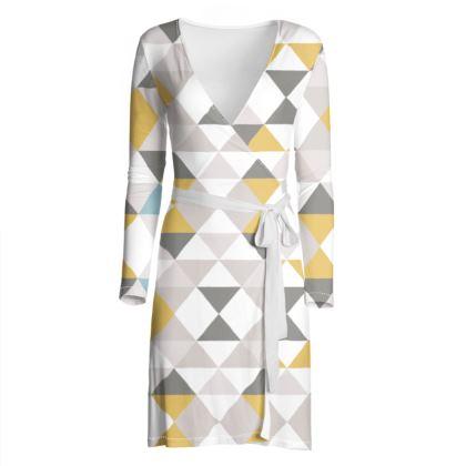 OSHO Wrap Dress - Geo