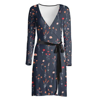 OSHO Wrap Dress -Spring Nights
