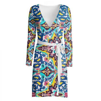 OSHO Wrap Dress - Morocco