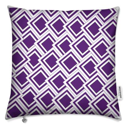 Art Deco Design Purple Cushion
