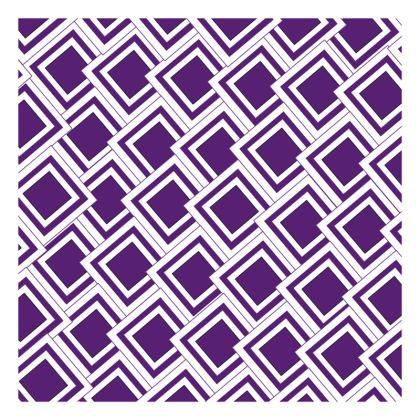 Cushion Purple Art Deco Design