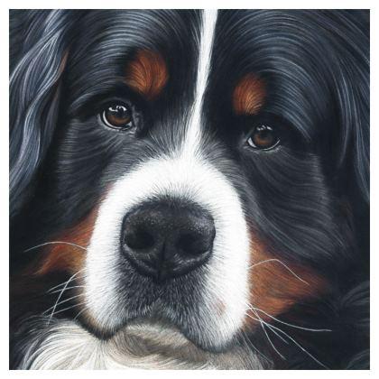 Bernese Mountain Dog Cushion - Up Close
