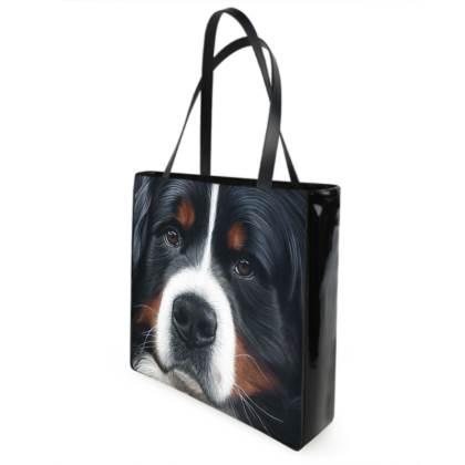 Bernese Mountain Dog Shopping Bag - Up Close