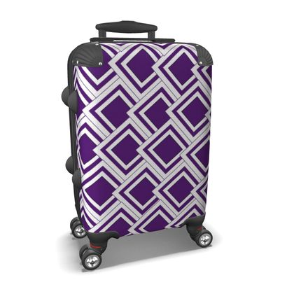 Suitcase Purple Art Deco Design