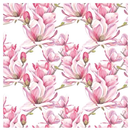 Magnolia and Pink Geo Cup and Saucer