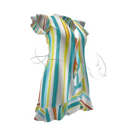 OSHO Tea Dress - Cool Stripe