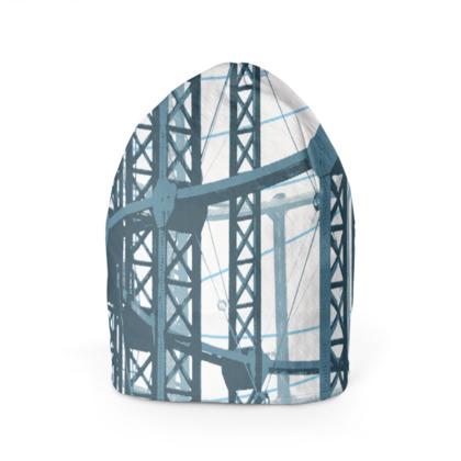 Beanie - Gasometers in White and Blues