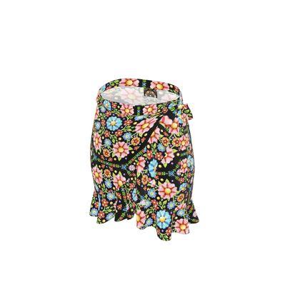 Millefiori Floral Flounce Skirt