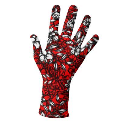 White Flower Gloves