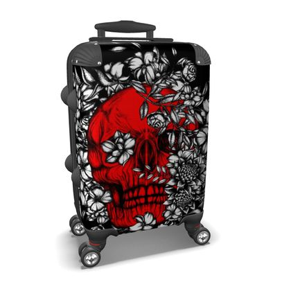 Red Skull Suitcase
