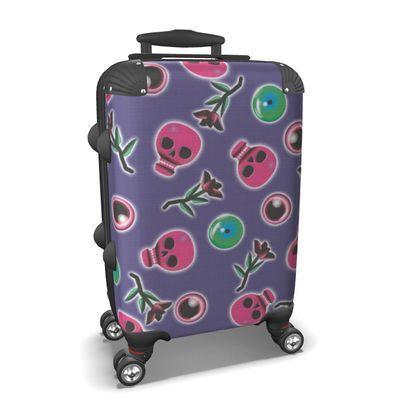 Skulls and Eyeballs Suitcase