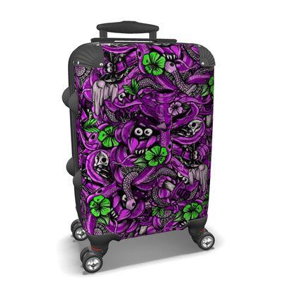 Bones and Flowers Suitcase