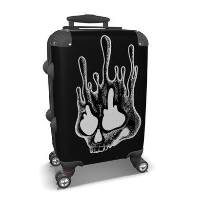 Melting Skull Suitcase