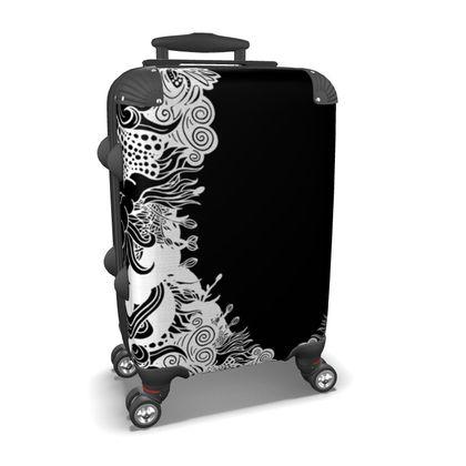 Floral b Suitcase