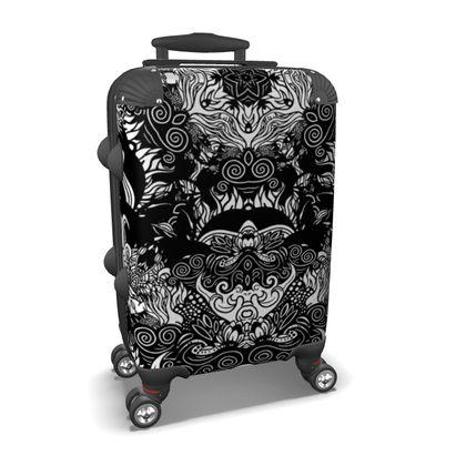 Floral Mirror Suitcase