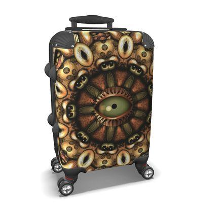 Mandala eye Suitcase
