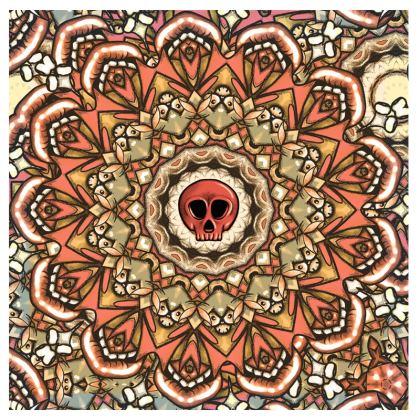 Mandala Skull Suitcase