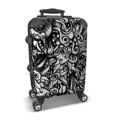 Doodles bw Suitcase