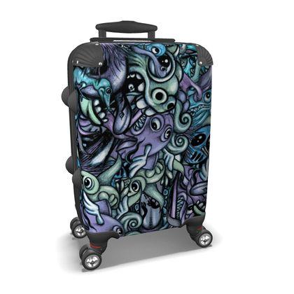 Doodles Blue Suitcase