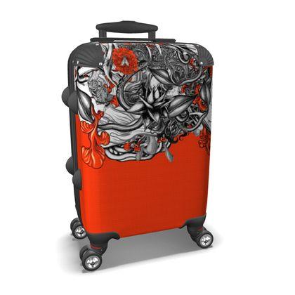 Floral Orange Suitcase