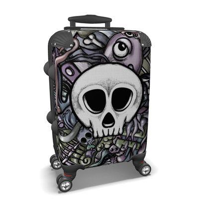 White Skull Suitcase