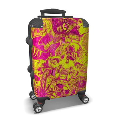 Yellow Stickers Suitcase