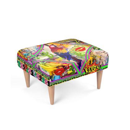 490,- Polsterhocker, foot stool passend zum Sessel Fußbank Polsterhocker Footstool   #fusshocker #hocker passend zum Sessel Papagei