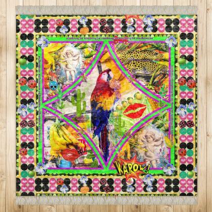 499,- Kinder Teppich Papagei