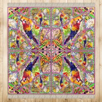 499,- marmorierter Samt PAPAGEI Kinder Teppich