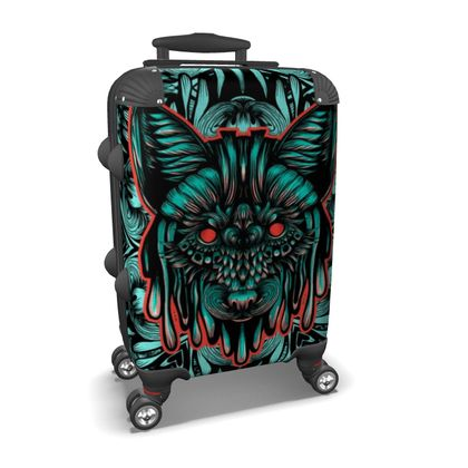 Floral Wolf Suitcase