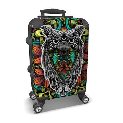 Floral Owl Suitcase