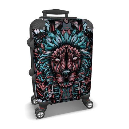 Floral Lion Suitcase